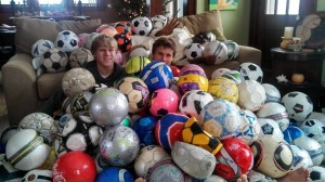Soccer balls for Uganda 2013