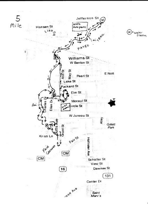 5Mile course map